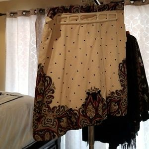 Holding Horses Skirt Paisley Black, Red and Cream